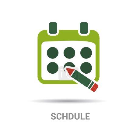 Illustration pour Calendrier, icône de calendrier. illustration vectorielle - image libre de droit