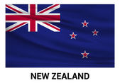New Zealand flag isolated vector in official colors