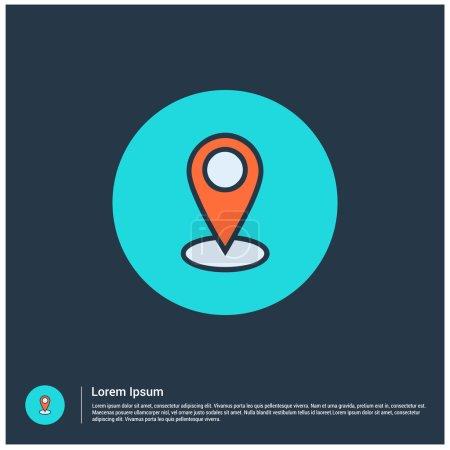 Illustration pour Vectoriel Carte Icône ligne mince pour web et mobile, design plat minimaliste moderne. icône de contour vectoriel - image libre de droit