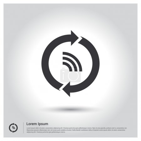 circle arrows with wifi signal icon