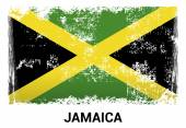 Jamaica grunge flag in official colors
