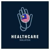 Malaysia National flag on stethoscope