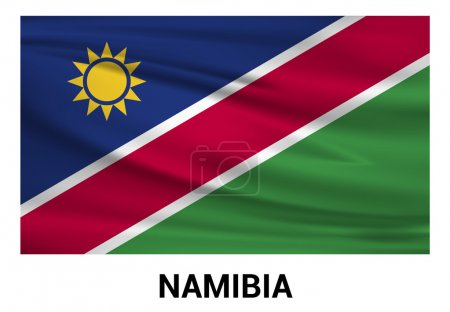 Namibia Flag isolated vector in official colors...