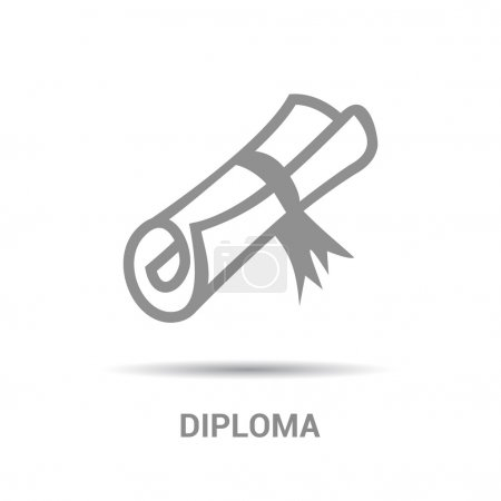 Certificate, diploma icon