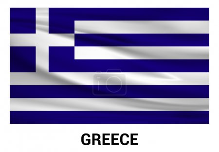 Greece flag in official colors