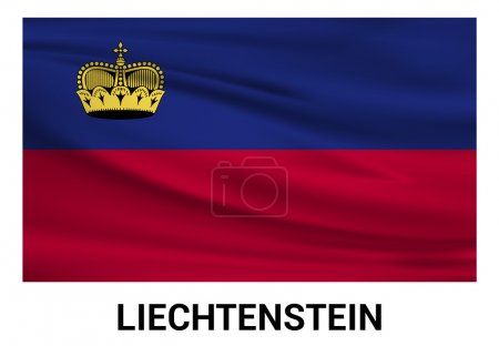 Liechtenstein Flag in official colors