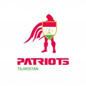 Tajikistan Patriots Concept with Soldier and Flag Logo Mascot Character Design Army man with Shield Vector illustration