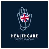UK National flag on stethoscope