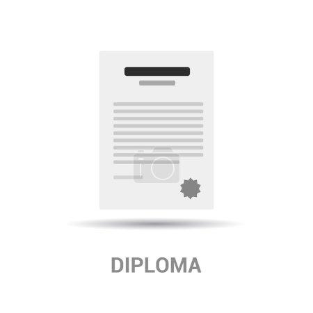 Illustration for Graduation diploma icon. vector illustration - Royalty Free Image