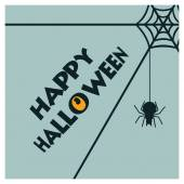 Creative Creepy Halloween Party typography Bats Flying Witch eye and spiders hanging with text vector Halloween Party card design illustration