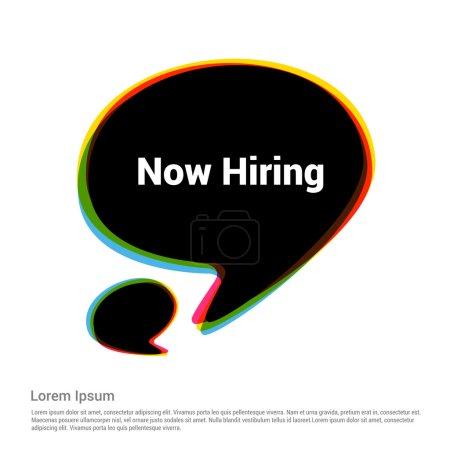 Illustration pour Maintenant, le symbole d'embauche. illustration vectorielle - image libre de droit