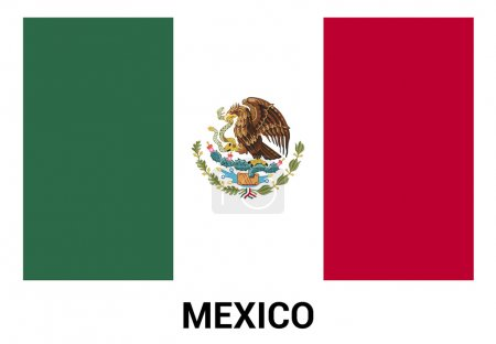 Mexico Flag in official colors