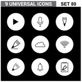 Abstract collection flat Universal Icons set