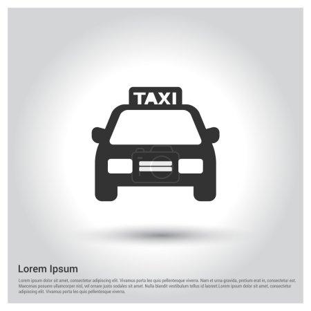 Illustration pour Icône de taxi passager. illustration vectorielle - image libre de droit