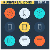 Thin line flat Universal Icon set Big package of modern minimalist thin line icons Design elements for mobile and web applications