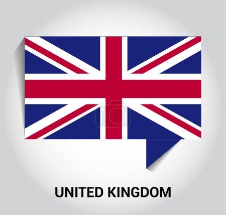 Three dimensional 3d United Kingdom UK Great Britain flag