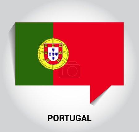 Three dimensional 3d Portugal flag