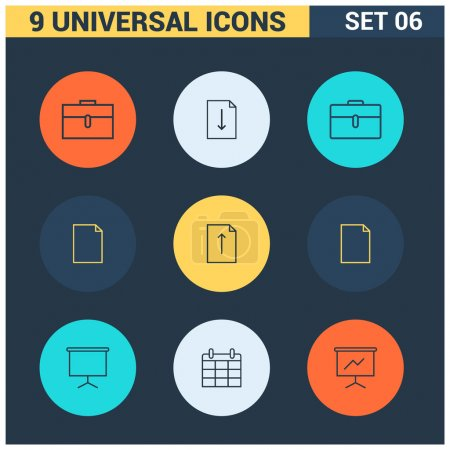 Colorful flat Universal Icons
