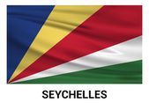 Seychelles flag in official colors