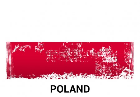 Poland Polish grunge flag