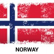 Norway grunge flag isolated vector in official colors and Proportion Correctly. country's name label in bottom. Vector Illustration