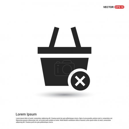 Illustration for Remove from basket icon. vector illustration - Royalty Free Image
