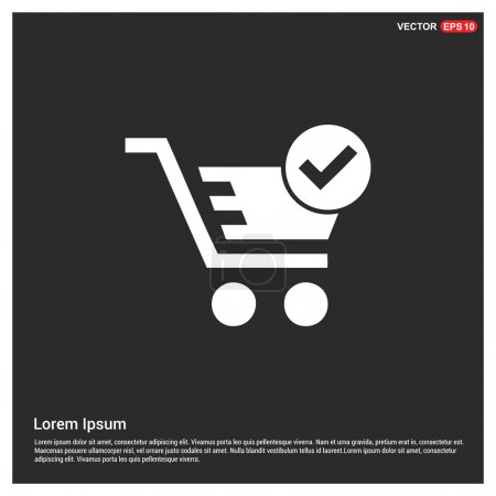 Illustration for Add to basket icon. vector illustration - Royalty Free Image