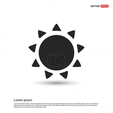 Illustration for Summer sun icon. vector illustration - Royalty Free Image