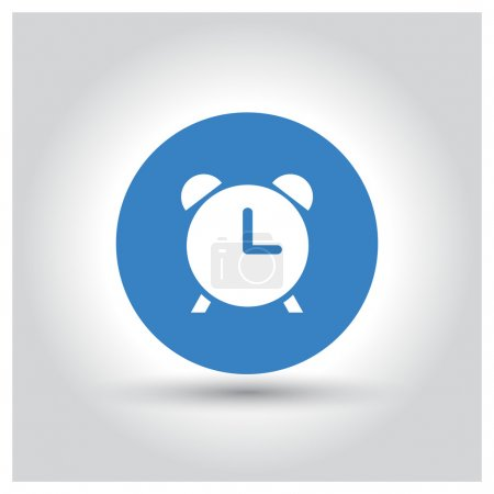 Flat clock web app icon