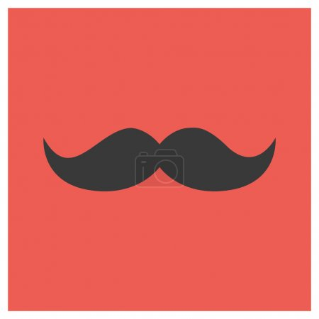 Mustache Icon illustration