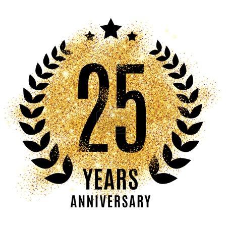 twenty five years gold anniversary.