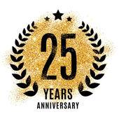 twenty five years gold anniversary