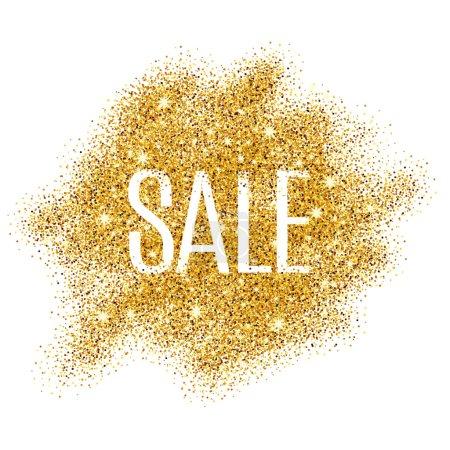 Gold sale background glitter