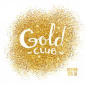 Gold club glitter background