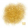 Gold sparkles on white background. Gold glitter ba...