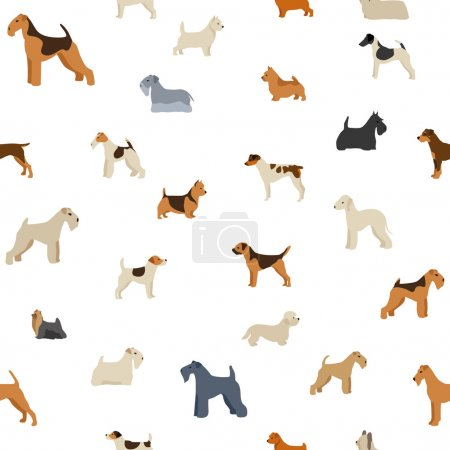 Dog terrier seamless pattern
