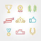 Win set icon thin line