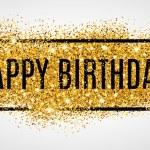 Gold sparkles background Happy Birthday...