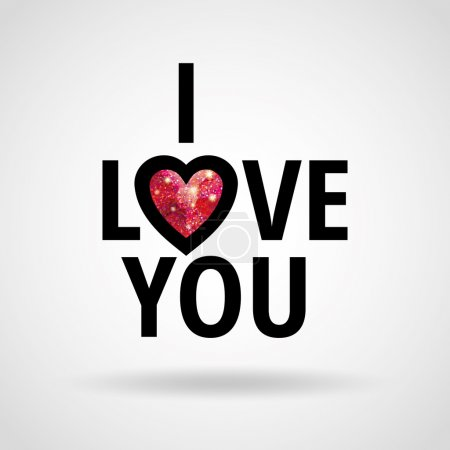 I Love you glitter ruby heart
