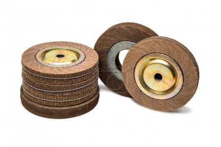 Polishing wheel set of six