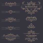 Classic monograms borders and frames