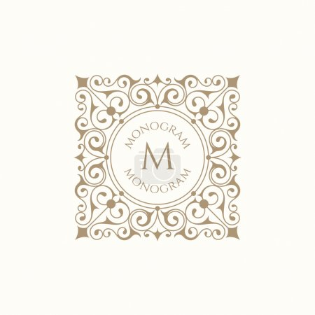 Monogram for cards, invitations, menus, labels, business sign.