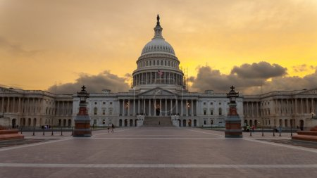 Capitol building Washington DC sunset