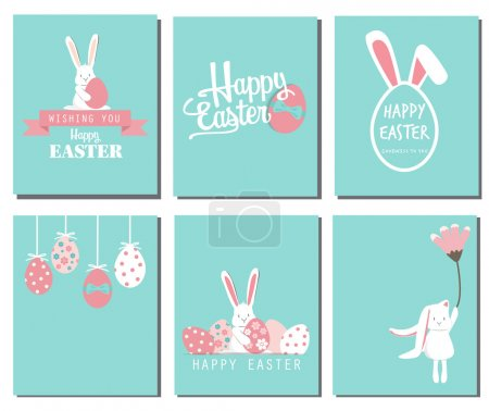 Illustration for Happy easter day backgrounds.  vector illustration - Royalty Free Image