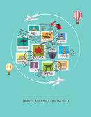 travel around the world background
