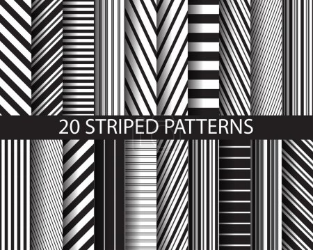 20 black and white  striped patterns