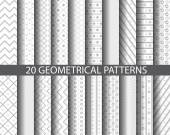 20 gray dotted and striped patterns