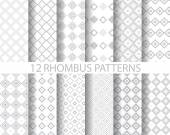12 rhombus patterns