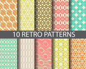 10 retro patterns  Pattern Swatches vector Endless texture can be used for wallpaper pattern fills web pagebackgroundsurface