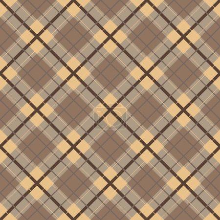 plaid brown seamless pattern